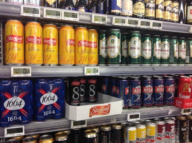 Пиво в банках поштучно: від €0,59