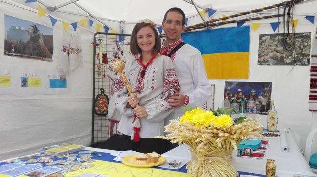 Stand ukrainien à l'intérieur