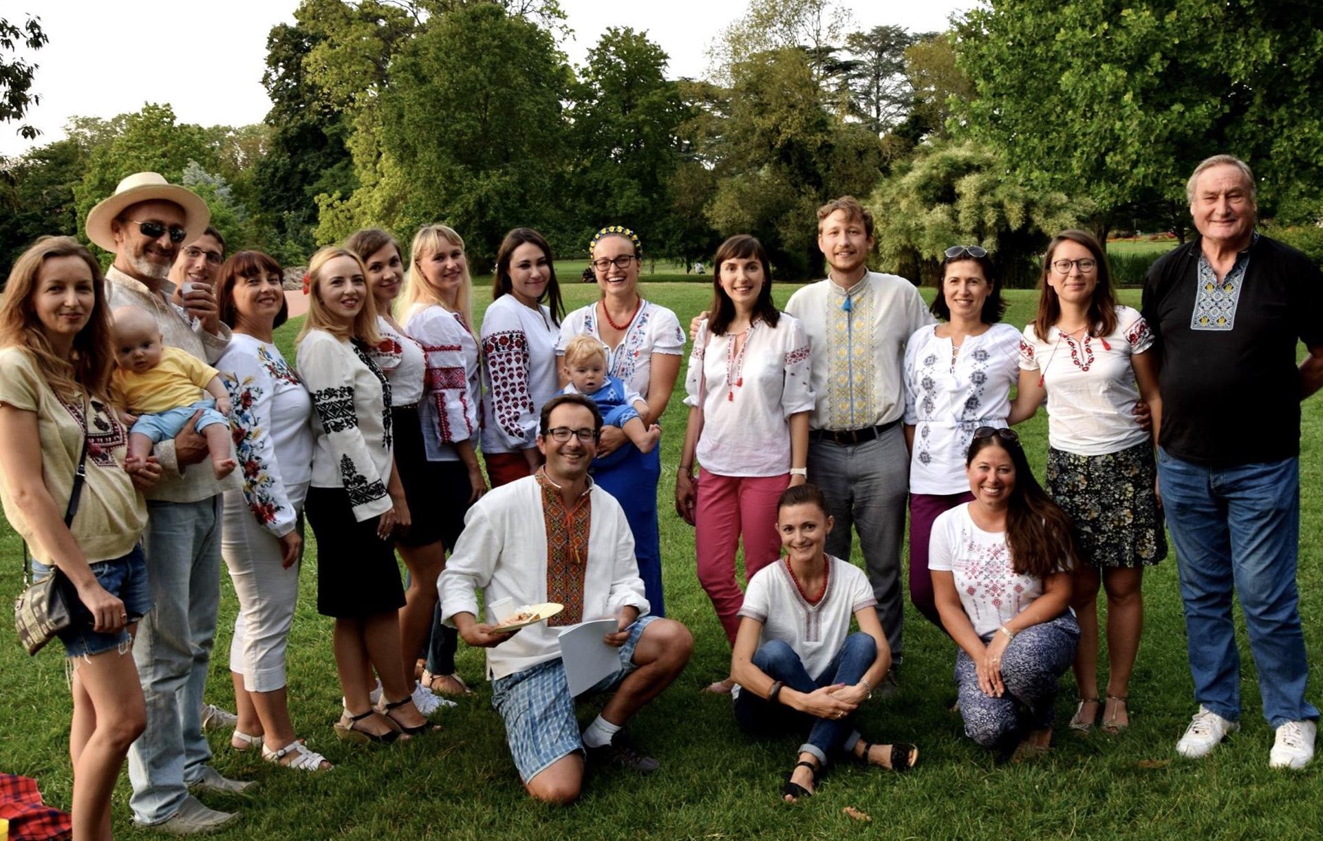24/08, Parc de Gerland – Pique-nique à l'occasion du Jour de l'Indépendance de l'Ukraine