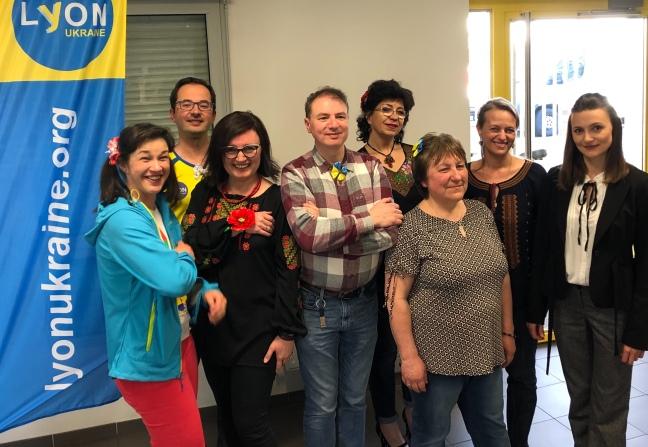 Membres du nouveau C.A. de Lyon-Ukraine