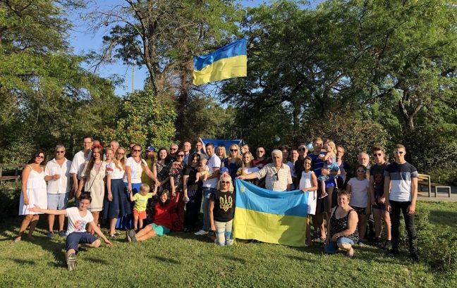 Pique-nique pour la Fête nationale de l'Ukraine, le 24 août 2019