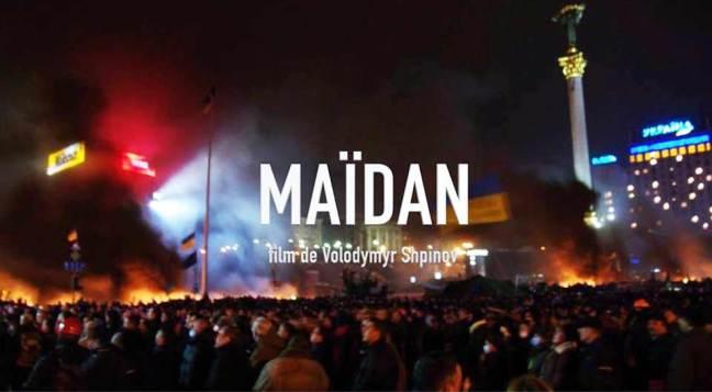 Image du film Maïdan de Shpinov, les manifestants sur la place de l'Indépendance à Kiev