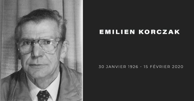 Emilien Korczak, né le 30 janvier 1926, mort le 15 février 2020