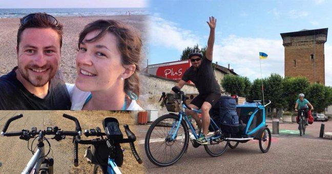 Une famille franco-ukrainienne a voyagé en vélo de Lyon à l'océan