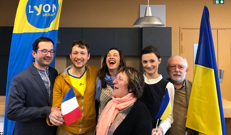 Les membres du C.A. Lyon-Ukraine, mars 2020