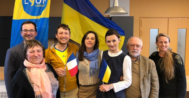 Des membres du Conseil d'Administration de l'association Lyon-Ukraine en 2020