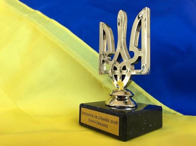 La statuette avec le Trident ukrainien, Prix pour la meilleure initiative franco-ukrainienne dans la région lyonnaise