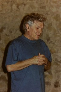 Mykola Hvozd lors d'une répétition en 2001